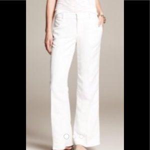 Banana Republic Summer White Trousers